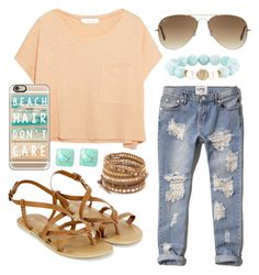 """""""Lost at sea"""" by ginaseaman on Polyvore featuring Elizabeth and James, Abercrombie & Fitch, Monsoon, Ray-Ban, Casetify, Chan Luu and Devoted"""