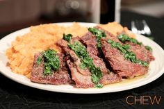 Mario Batali's Prosciutto-Wrapped Filet with Root Vegetable Mash Recipe #thechew