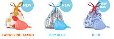 LadyCup Tangerine Tango, Sky Blue, Blue