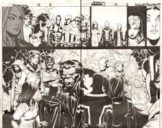 Comic Art For Sale from Anthony's Comicbook Art, Uncanny X-Men #12 pgs. 5 & 6 - Cyclops, Magneto, Emma Frost, Magik, Beast, Future Jean Grey (Xorn), & Others DPS - 2013 by Comic Artist(s) Chris Bachalo, Tim Townsend