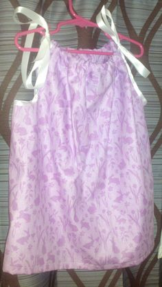 Purple Bunny Pillowcase Style Dress by CABCREATIONSHOPPE on Etsy, $12.00