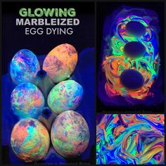 Glowing marbleized egg dying with shaving cream. I can't wait to try this! The entire process is stunning, and the end result BEAUTIFUL! Easter Activities For Preschool, Easter Crafts For Kids, Crafts To Do, Summer Activities, Easter Ideas, Easter Art, Easter Eggs, Easter Decor, Rose Crafts