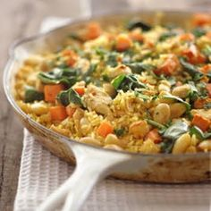 Brown rice, vegetable and chickpea pilaf