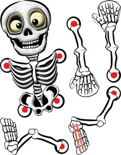 Origami n' Stuff 4 Kids: Halloween Skeleton Adornos Halloween, Halloween 1, Halloween Crafts For Kids, Holidays Halloween, Fall Crafts, Halloween Decorations, Halloween Printable, Vintage Halloween, Halloween Makeup