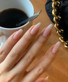 Our social Life Best Acrylic Nails, Summer Acrylic Nails, Aycrlic Nails, Red Tip Nails, Nail Polish, Fire Nails, Minimalist Nails, Neutral Nails, Dream Nails