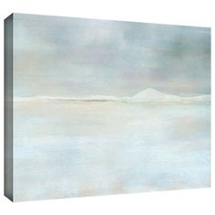 "Art Wall ""Landscape Snow"" by Cora Niele Gallery Wrapped on Canvas"