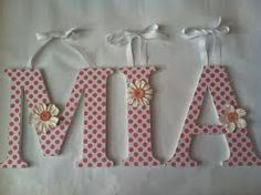 wooden letters decoration polka dot - Google Search