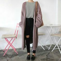 monroll - Open-Front Cardigan Coat - Outfits for Work Mode Outfits, Fall Outfits, Casual Outfits, Fashion Outfits, Fashion Trends, Fashion Ideas, Hipster Outfits Winter, Fashion Guide, Fashion Lookbook