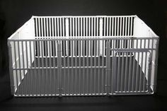 this can't be that hard to make...PVC pipe dog playpen http://www.roverpet.com/dogs_cats/rover-dog-enclosure-6-wide-x-6-long-x-30-high.html
