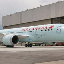 AIR CANADA - Landing Air Canada Dreamliner aircraft