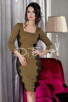Rochie Cubes Brown Detalii la http://rochii-dama.com/rochie-cubes-brown/