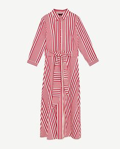 Image 8 of STRIPED SHIRT-STYLE TUNIC from Zara