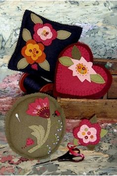 Show details for Elegant Floral Pin Cushions