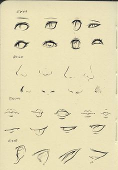 Reference (eyes,nose,mouth,ear) by ryky on DeviantArt