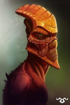 Alien Head Concept | SAM WESTALL CONCEPT ART