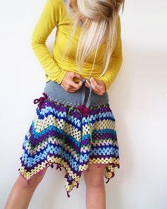 crochet saia