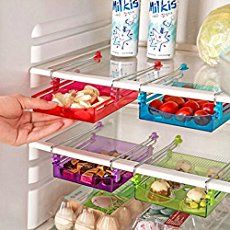Maximize your storage space with the Refrigerator Sliding Drawer. Large enough to hold food items but small enough to not take up valuable room.