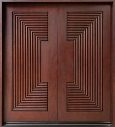 Exterior, Awesome Custom Mahogany Wood Entry Doors With Square Carving Ornament: Awesome Modern Entry Doors For Home Design Ideas
