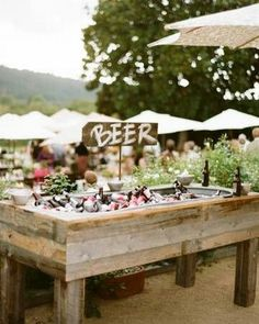 rustic country summer beer bar