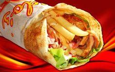 Shaorma de casă cu pui Kfc, Healthy Recipes, Healthy Food, Good Food, Mexican, Pizza, Cooking, Ethnic Recipes, Drinks