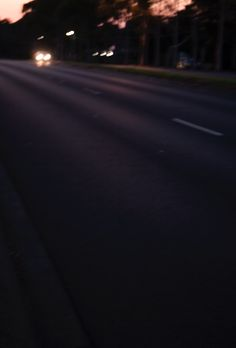 The highlights in the road create some movement in the image