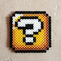Mario Bros Mystery Block Perler Bead