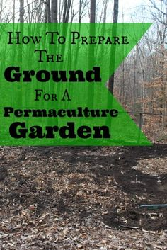 Preparing the ground for a permaculture garden | areturntosimplicity.com