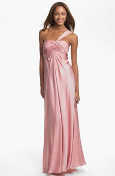 2913a2a91ca ML Monique Lhuillier Bridesmaids One Shoulder Gown (Nordstrom Exclusive)  available at  Nordstrom Beautiful