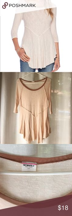 Free People Weekends Layering Top Free People Weekends Layering Top, unfinished detailing, nude color Free People Tops