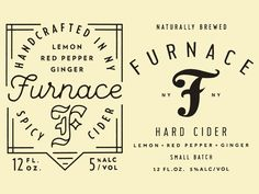 Furnace labels