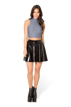 Matte Grey High Neck Crop - LIMITED – Black Milk Clothing
