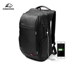 Cheap laptop bag, Buy Quality waterproof laptop bag directly from China laptop bags for men Suppliers: Kingsons External USB Charge Laptop Backpack Anti-theft Notebook Packsack inch Waterproof Laptop Bag for Men Women Stylish Backpacks, Boys Backpacks, School Backpacks, Computer Backpack, Computer Bags, Mochila Nike, Waterproof School Backpack, Nylons, Usb
