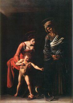 Caravaggio Madonna dei Palafrenieri, 1605 Galleria Borghese, Rome