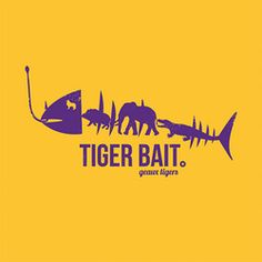 LSU Tigers Gold Tiger Bait T-Shirt