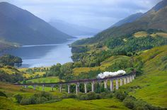 Glenfinnan Viaduct - a railway viaduct on the West Highland Line in Glenfinnan, Scotland