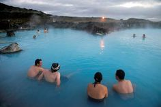 Iceland's unofficial pastime is splashing around its surplus of geothermal water. There are 'hot pot. Local Pubs, Travel Info, Travel Ideas, Iceland Travel, Vacation Destinations, Vacations, Hot Springs, The Locals, Natural Beauty
