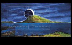 Färöer Briefmarke Sonnenfinsternis