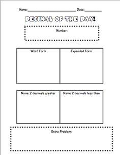 math worksheet : 1000 images about maths  fractions decimals on pinterest  : Decimal Of The Day Worksheet