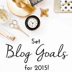 2015 Blog Goal Printable Sheet