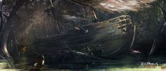 Assassins Creed 3: Liberation Wrecked Ship, Nacho Yagüe on ArtStation at https://www.artstation.com/artwork/assassins-creed-3-liberation-wrecked-ship