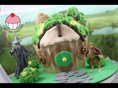 The Hobbit House Giant Cupcake Cake - A Cupcake Addiction Lord of the Rings Tutorial