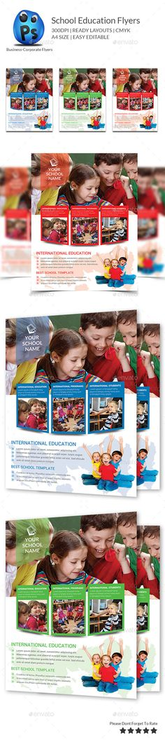 Buy Junior School Education Flyer Template by afjamaal on GraphicRiver. This flyer is made in photoshop the files included are help file and photosho. Graphic Design Flyer, Brochure Design, Flyer Design, Social Projects, School Projects, Colegio Ideas, Insert Image, School Opening, Flyer Printing