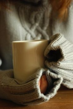 Hot drinks and cozy sweaters