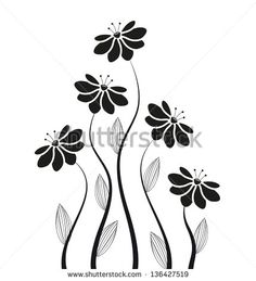 SILHOUETTES FLOWERS Stock Photos, Images, & Pictures | Shutterstock
