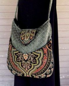 Tapestry Gypsy Bag - Bohemian, Renaissance (Black Velvet) Found on etsy.com: