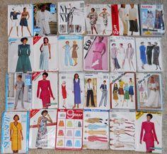 Womens Sewing Patterns 10 12 14 18 Large X Large Lot 24 Burda Butterick NY #BurdaMcCallsSimplicity