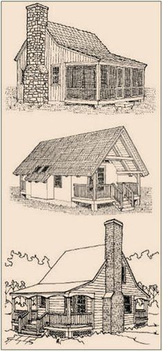 Five Free Cabin and Cottage Study Plans from SheldonDesigns.com