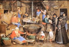 Jan Brueghel the Elder (known as Velvet) 1568 1625 Visit the farm Vienna This is probably a copy of a work by Pieter Bruegel that his father is visiting landowners to farmers. Interesting testimony period which is more in the way of the father als the son.
