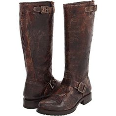 Frye Veronica Slouch at zappos.com. I would do the solid brown not the vintage leather
