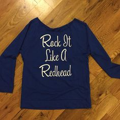 I want this!!!! Size medium ;-) A must for every redhead's fall/winter wardrobe. Lightweight, 100% cotton lightweight sweatshirt. Cotton; machine wash. Sizes run true to size. Check your t-shirt size with our sizing chart above. Return Policy: We stand behind everything we sell. I